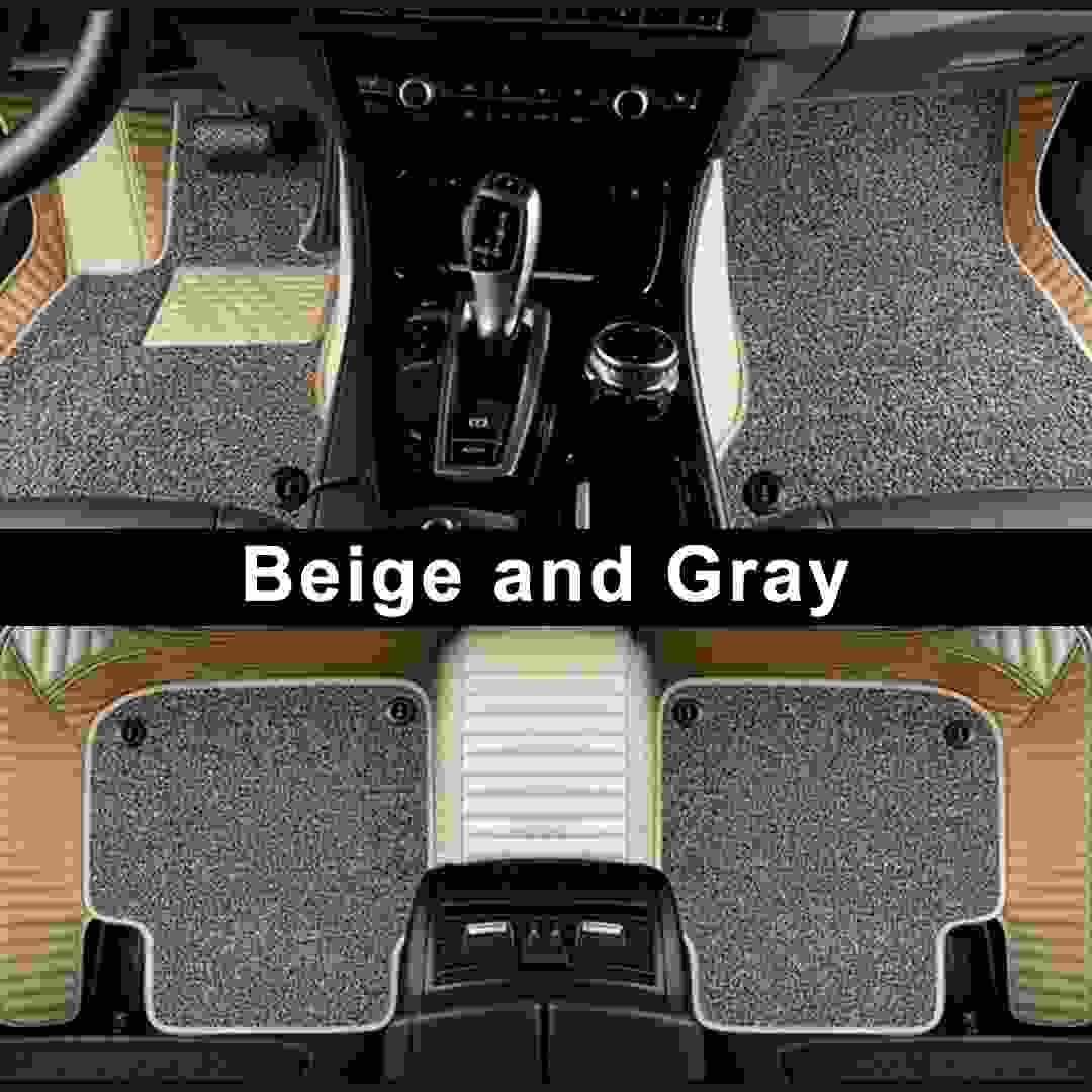 beige and gray double stripe